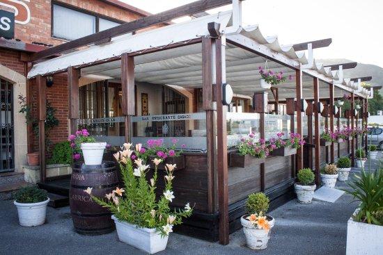 Nuestra terraza cubierta para comer al aire libre los - Cubierta para terraza ...