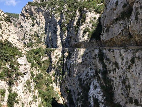 Gorges de Galamus: Stukje van de route (richting noorden)