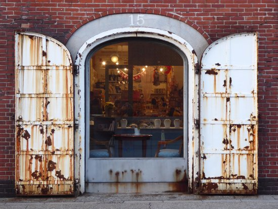 The Old Steel Doors...   Picture Of Kanemori Red Brick ...