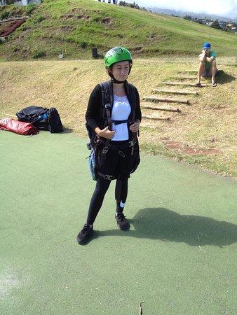 Saint-Leu, Reunion Island: Sophie équipée.