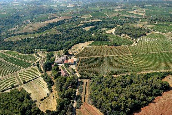 Murviel-les-Beziers, Frankrig: une vue aérienne du domaine