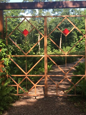 Chetek, WI: entrance to the garden