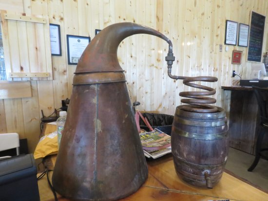 Sparta, KY: Replica of a steele inside Neeley Family Distillery