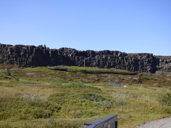Thingvellir, Island: The Law Rock from below