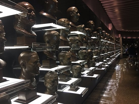 Canton, OH: Busts of all inductees