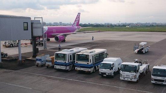 宮崎交通 株式会社, 宮崎空港の構内で憩う宮崎交通のバス