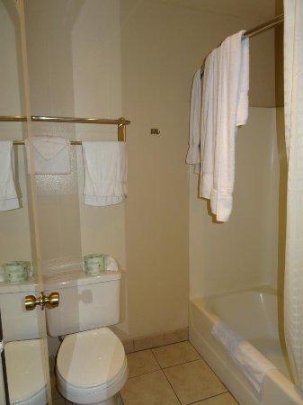 Corona, Καλιφόρνια: Inodoro y ducha en zona cerrada de la habitación.