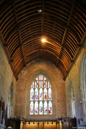 Inside Dunkeld cathedral