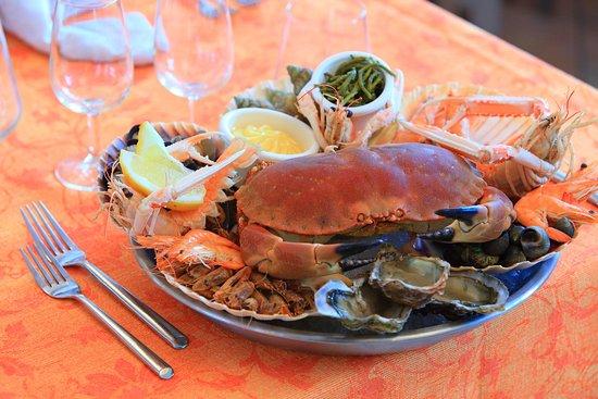 Escalles, Francia: Restaurant - Assiette de fruits de mer