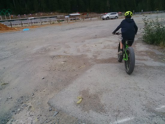 Whistler Olympic Park: Fat tire electronic bike for off-roading