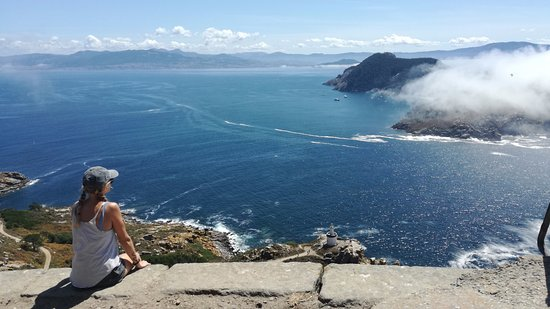 Islas Cies: Laura meditando