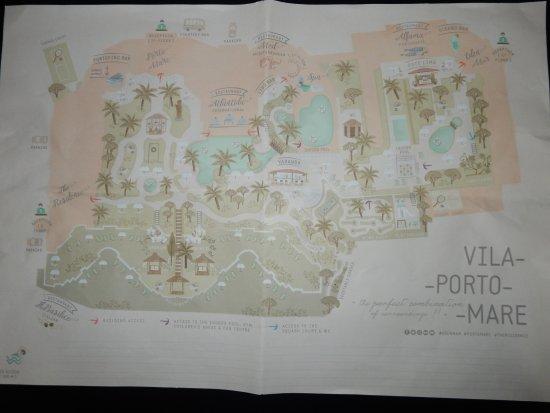 Porto Mare Hotel: Map du complexe.