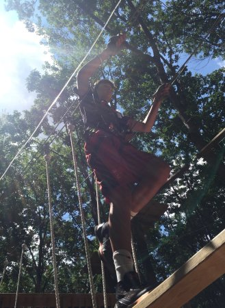 Pocono Summit, PA: Loved the ropes courses!