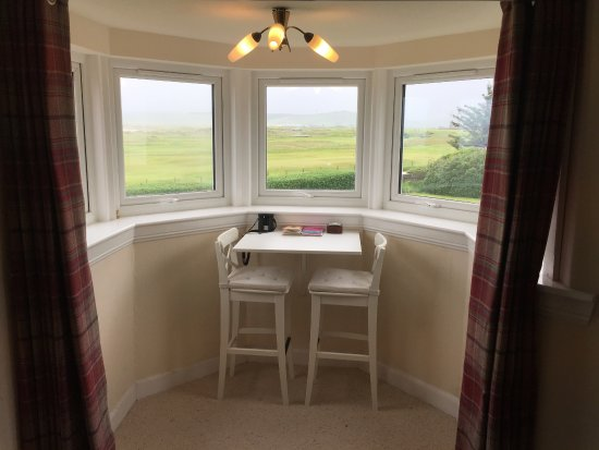 Feature Bay Windows in bedroom 2. View of Machrihanish Golf Course