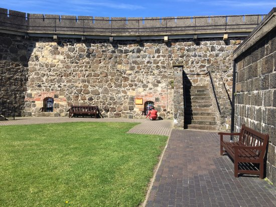 Carrickfergus, UK: inside part of the castle