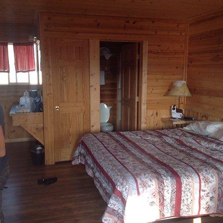 Alpine, WY: Doppelzimmer mit Kingsize-Bett