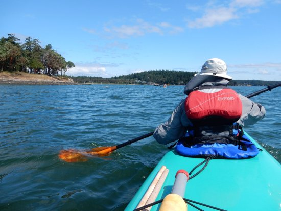 Friday Harbor, Waszyngton: On our way to Posey Island