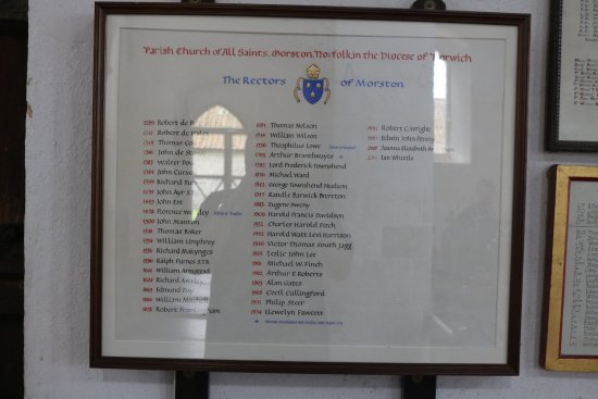 Morston, UK: the rectors