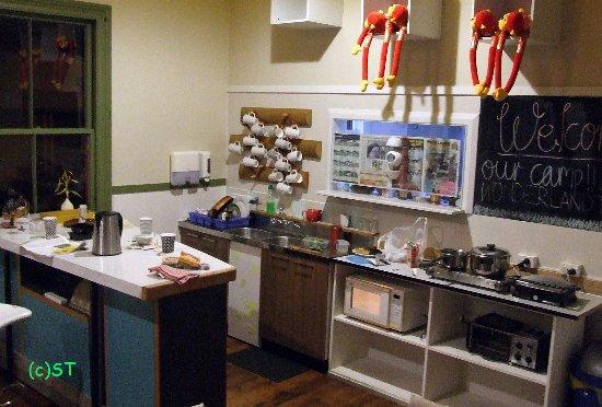 Waihi, New Zealand: Communal kitchen