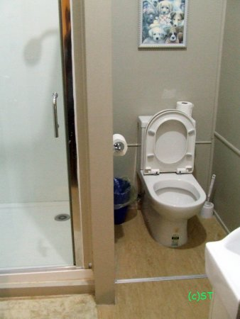 Waihi, Nova Zelândia: Toilet and shower