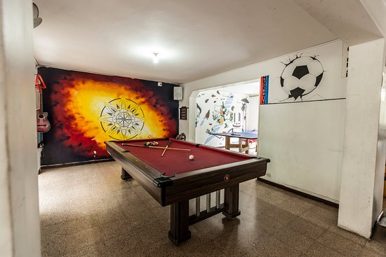 Pool Table & Wall Art - Picture of Paisa City Hostel Medellin ...