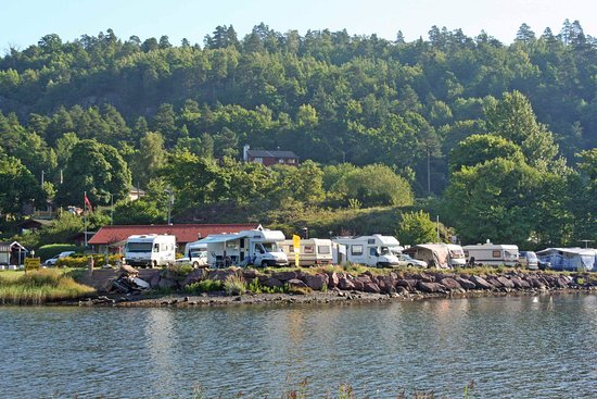 Horten, Norge: Most caravan/autocamper sites have sea view, or are situated right next to the sea