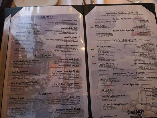 The Crow S Nest Restaurant Santa Cruz Ca