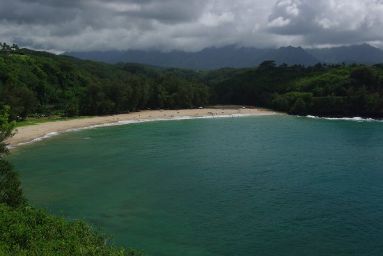 Kalihiwai Beach: from the point of view