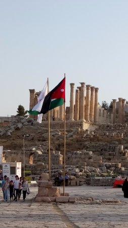 Jerash Ruins: Jerash, Jordan flag