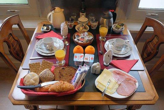 Parkzijde Bed & Breakfast: Park room breakfast
