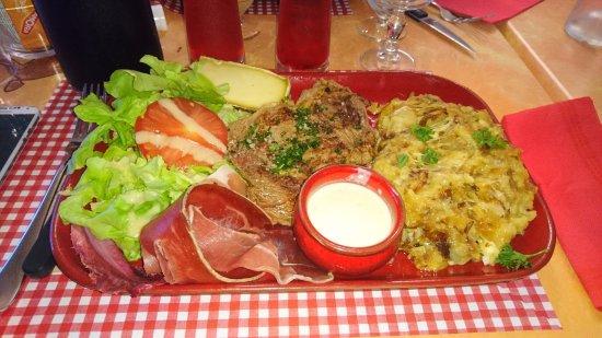 Issoire, Γαλλία: Entrecôte truffade
