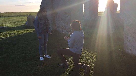Salisbury, UK: I said 'Yes!' at Stonehenge!