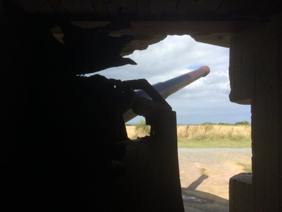Longues-sur-Mer, France: View from inside a gun emplacement.
