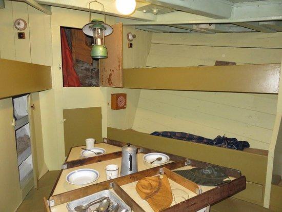 Siglufjordur, Islandia: Small living quarters of one of the ships