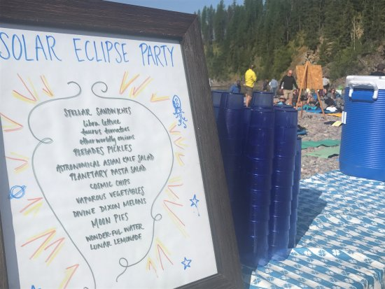 West Glacier, MT: Solar Eclipse party was so much fun. 8/21/17. Thanks for a great float, delicious lunch and educ