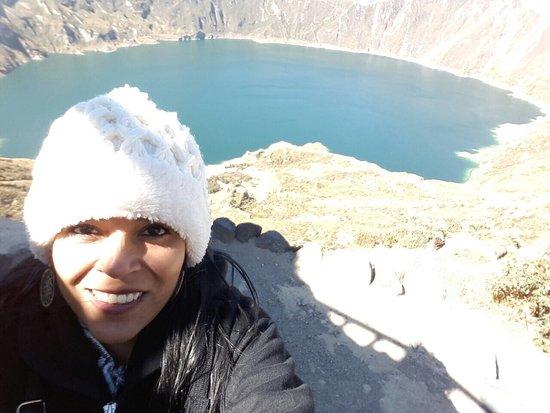 Laguna Quilotoa: Maravilloso lugar!!! Debes abrigarte muy bien porque es un lugar frío y de mucho viento... pero