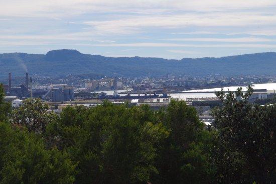 Views over Wollongong and Port Kembla