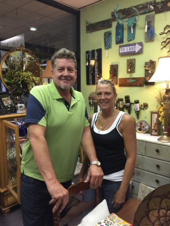 The owners of Anita's Furniture & Home Decor in historic downtown DeLand.