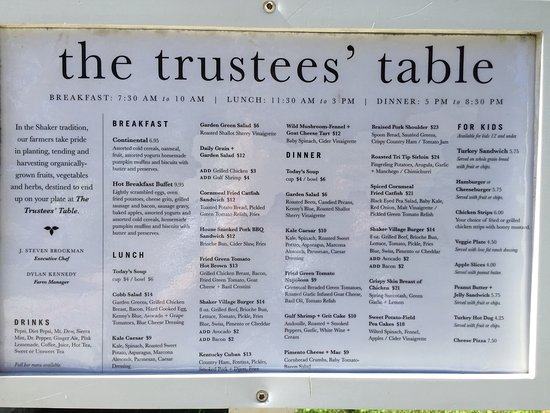 The trustees 39 table harrodsburg 52 for Table 52 reviews