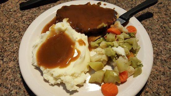 Bullhead City, AZ: Meatloaf dinner - $3.99 special