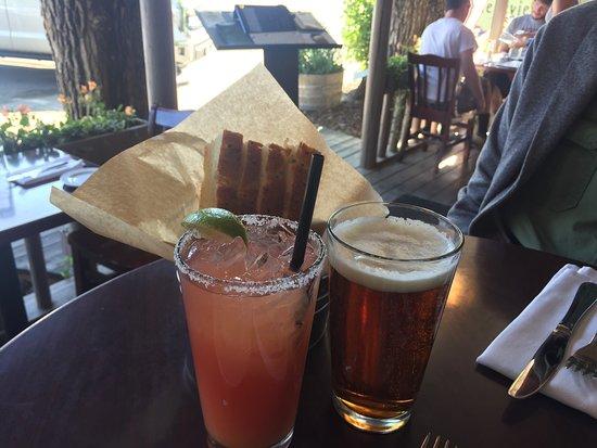 Cafe Genevieve: Watermelon Margarita at Happy Hour