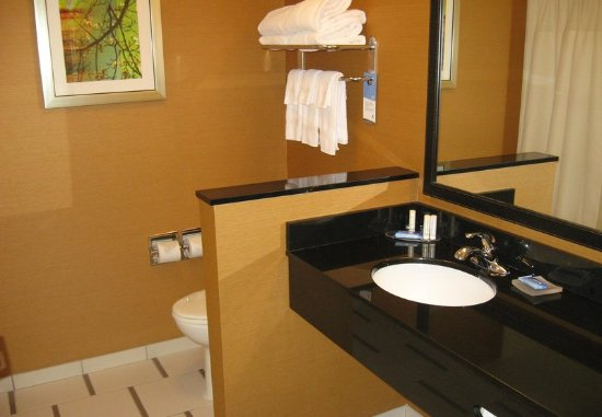 Horseheads, Νέα Υόρκη: Two-Queen Guest Room - Bathroom
