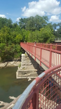 Carmel, IN: Lovely bridge on the Monon Trail