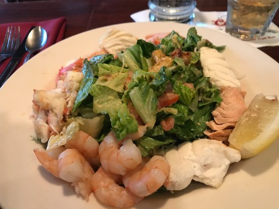 Kenai, AK: Seafood Caesar Salad. Crab, Shrimp, Halibut, & Salmon