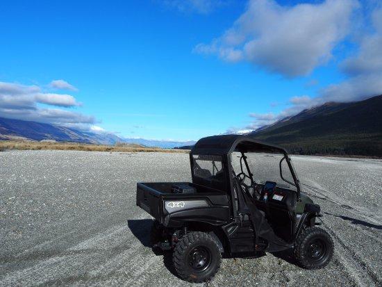 Glenorchy, Yeni Zelanda: the riverbed