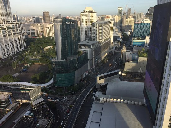The Berkeley Hotel Pratunam: view from the corner suite