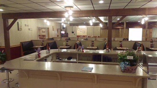Tamaqua, Pensylwania: Booth dining area