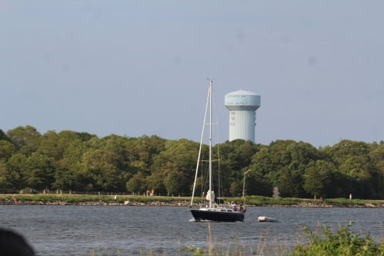 "Sagamore, MA: A ""tall"" ship in the canal."
