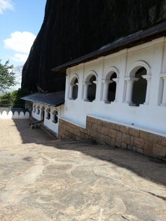 Dambulla, Sri Lanka: All five caves view from out side