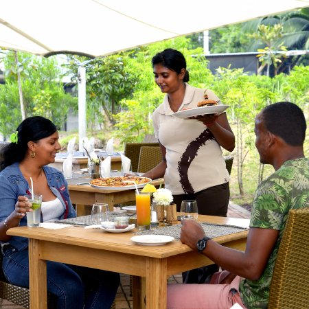 Chamarel: We serve authentic pizzas, home made burgers, local dishes...
